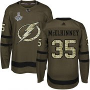 Cheap Adidas Lightning #35 Curtis McElhinney Green Salute to Service 2020 Stanley Cup Champions Stitched NHL Jersey