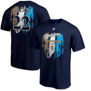 Wholesale Cheap Milwaukee Brewers #22 Christian Yelich Majestic 2019 Spring Training Big & Tall Name & Number T-Shirt Navy