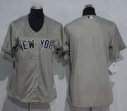 Wholesale Cheap Yankees Blank Grey Women's Road Stitched MLB Jersey