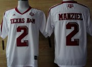 Wholesale Cheap Texas A&M Aggies #2 Johnny Manziel White Jersey