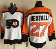 Wholesale Flyers #27 Ron Hextall White/Black CCM Throwback Stitched NHL Jersey