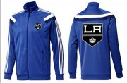 Wholesale Cheap NHL Los Angeles Kings Zip Jackets Blue-2