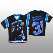Wholesale Cheap NFL Carolina Panthers #31 Juston Burris Black Men's Mitchell & Nell Big Face Fashion Limited NFL Jersey