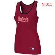 Wholesale Cheap Women's Nike St.Louis Cardinals Tri-Blend Racerback Stretch Tank Top Red