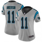 Wholesale Cheap Nike Panthers #11 Robby Anderson Silver Women's Stitched NFL Limited Inverted Legend Jersey