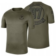 Wholesale Cheap Atlanta Falcons #97 Grady Jarrett Olive 2019 Salute To Service Sideline NFL T-Shirt