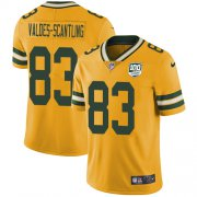 Wholesale Cheap Nike Packers #83 Marquez Valdes-Scantling Yellow Men's 100th Season Stitched NFL Limited Rush Jersey