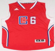 Wholesale Cheap Los Angeles Clippers #6 DeAndre Jordan Revolution 30 Swingman 2015 New Red Jersey