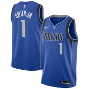 Wholesale Cheap Nike Dallas Mavericks #1 Dennis Smith Jr. Royal NBA Swingman Icon Edition Jersey