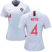 Wholesale Cheap Women's Portugal #4 Neto Away Soccer Country Jersey