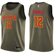 Wholesale Cheap Nike Atlanta Hawks #12 Taurean Prince Green Salute to Service NBA Swingman Jersey