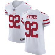 Wholesale Cheap Nike 49ers #92 Kerry Hyder White Men's Stitched NFL New Elite Jersey