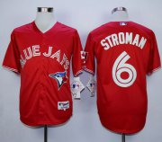 Wholesale Cheap Blue Jays #6 Marcus Stroman Red Canada Day Stitched MLB Jersey