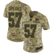 Wholesale Cheap Nike Chiefs #57 Breeland Speaks Camo Women's Stitched NFL Limited 2018 Salute to Service Jersey