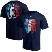 Wholesale Cheap Atlanta Braves #13 Ronald Acuna Jr. Majestic Big & Tall 2019 Spring Training Name & Number T-Shirt Navy