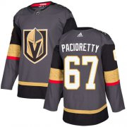 Wholesale Cheap Adidas Golden Knights #67 Max Pacioretty Grey Home Authentic Stitched NHL Jersey