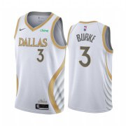 Wholesale Cheap Nike Mavericks #3 Trey Burke White NBA Swingman 2020-21 City Edition Jersey