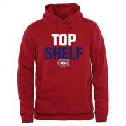 Wholesale Cheap Montreal Canadiens Top Shelf Pullover Hoodie Red