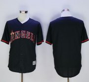 Wholesale Cheap Angels of Anaheim Blank Black New Cool Base Fashion Stitched MLB Jersey