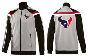Wholesale Cheap NFL Houston Texans Team Logo Jacket Grey