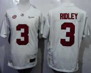 Wholesale Cheap Men's Alabama Crimson Tide #3 Calvin Ridley White 2016 Playoff Diamond Quest College Football Nike Limited Jersey