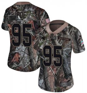 Wholesale Cheap Nike Panthers #95 Dontari Poe Camo Women\'s Stitched NFL Limited Rush Realtree Jersey