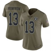 Wholesale Cheap Nike Raiders #13 Hunter Renfrow Olive Women's Stitched NFL Limited 2017 Salute to Service Jersey