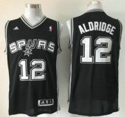 Wholesale Cheap San Antonio Spurs #12 LaMarcus Aldridge Revolution 30 Swingman Black Jersey
