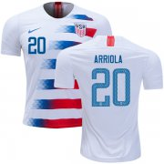 Wholesale Cheap USA #20 Arriola Home Soccer Country Jersey