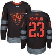 Wholesale Cheap Team North America #23 Sean Monahan Black 2016 World Cup Stitched Youth NHL Jersey