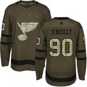Wholesale Cheap Adidas Blues #90 Ryan O'Reilly Green Salute to Service Stitched Youth NHL Jersey