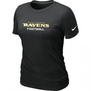 Wholesale Cheap Women's Nike Baltimore Ravens Sideline Legend Authentic Font T-Shirt Black