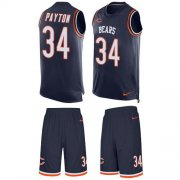 Wholesale Cheap Nike Bears #34 Walter Payton Navy Blue Team Color Men's Stitched NFL Limited Tank Top Suit Jersey