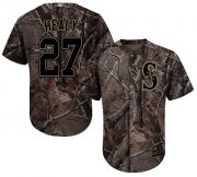 Wholesale Cheap Mariners #27 Ryon Healy Camo Realtree Collection Cool Base Stitched MLB Jersey