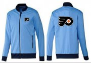 Wholesale Cheap NHL Philadelphia Flyers Zip Jackets Light Blue