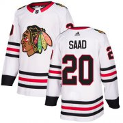 Wholesale Cheap Adidas Blackhawks #20 Brandon Saad White Road Authentic Stitched Youth NHL Jersey