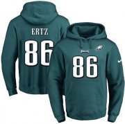 Wholesale Cheap Nike Eagles #86 Zach Ertz Midnight Green Name & Number Pullover NFL Hoodie