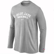 Wholesale Cheap Toronto Blue Jays Long Sleeve MLB T-Shirt Grey