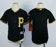 Wholesale Cheap Pirates Blank Black Cool Base Stitched Youth MLB Jersey