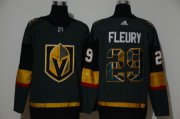Wholesale Cheap Men's Vegas Golden Knights #29 Marc-Andre Fleury Gray With Team Logo Adidas Stitched NHL Jersey
