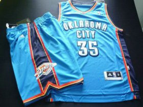 Wholesale Cheap NOklahoma City Thunder 35 Kevin Durant blue Basketball Suit