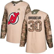Wholesale Cheap Adidas Devils #30 Martin Brodeur Camo Authentic 2017 Veterans Day Stitched Youth NHL Jersey
