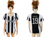 Wholesale Cheap Women's Juventus #19 Bonucci Home Soccer Club Jersey
