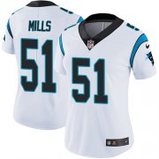 Wholesale Cheap Nike Panthers #51 Sam Mills White Women's Stitched NFL Vapor Untouchable Limited Jersey
