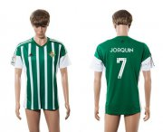 Wholesale Cheap Real Betis #7 Joaquin Home Soccer Club Jersey