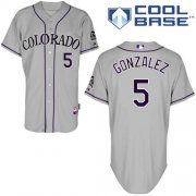 Wholesale Cheap Rockies #5 Carlos Gonzalez Grey Cool Base Stitched Youth MLB Jersey