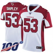 Wholesale Cheap Nike Cardinals #53 A.Q. Shipley White Men's Stitched NFL 100th Season Vapor Limited Jersey