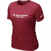 Wholesale Cheap Women's Nike Houston Texans Sideline Legend Authentic Font T-Shirt Red