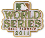 Wholesale Cheap Stitched 2011 MLB World Series Logo Jersey Sleeve Patch Fall Classic St. Louis Cardinals vs Texas Rangers