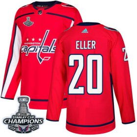 Wholesale Cheap Adidas Capitals #20 Lars Eller Red Home Authentic Stanley Cup Final Champions Stitched NHL Jersey